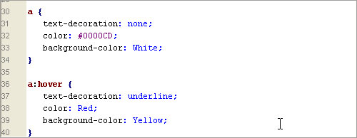 Lilapuce html css 4 for A hover text decoration underline